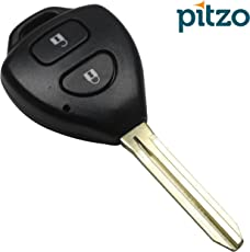 Pitzo Pit 104A4 Replacement 2 Button Remote Car Key Shell