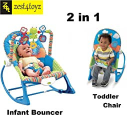 Zest 4 Toyz Multifunctional Vibration Musical Rocking Bouncer Swing Electronic Baby Chair (Multicolour, rcktt17802)