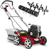 (NEU) HECHT 2-IN-1 Benzin Vertikutierer/Lüfter für optimale Rasenpflege – 2,5 kW / 3,4 PS – 40 cm Arbeitsbreite – 45 l…
