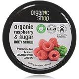Organic Shop Body Scrub Natural Raspberry Cream och socker 250 ml