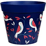 Hum Flowerpots, blue bird placement plant pot, outdoor/indoor planter