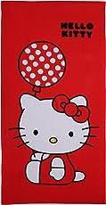 Modacubo Kids Cotton Hello Kitty Theme Blended Cartoon Bath Towel (Multicolour)
