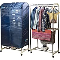 Sèche-linge portable par ventilation, 1200 W, capacité 30 kg, minuterie 180 min, silencieux, multifonction : sèche-linge…