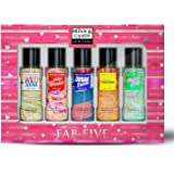 Bryan & Candy New York Body Fragrance Mist Spray FAB FIVE Combo Gift Set For Women, 115 ml Each (Pack of 5) No Gas Perfume