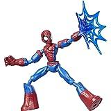 Hasbro Marvel E7686 buigbare en beweegbare Spider-Man actiefiguur, 15 cm groot, beweegbaar figuur, bevat netaccessoires, voor
