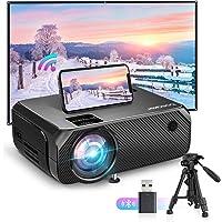 Bomaker WiFi Vidéoprojecteur, 6000 Wireless Screen Mirroring Outdoor Movie Projecteur, HDMI Projecteur Soutien 300…