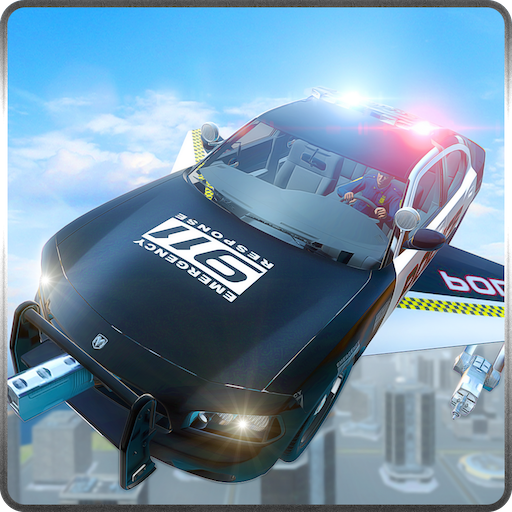 Fliegende Polizei Auto Chase Simulator 3D: Verbrechen City Vegas Gangster Criminal Flucht Rush Adventure Mission Games 2018