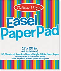 Melissa & Doug 4102 Easel Pad (17-inch x 20-inch),Multi Color