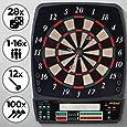 Physionics Elektronische Dartscheibe   28 Spiele mit viele Spieloptionen, 12 Dartpfeile und 100 Ersatzspitzen, LED Anzeige   Profi Dartspiel, Dartboard, Dartautomat