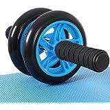 SONGMICS AB Roller Bauchtrainer AB Wheel für Fitness Bauchmuskeltraining Muskelaufbau Bauchroller für Frauen und Männer