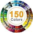 Borduurwerkdraad, Vibeey borduurwerk Floss Rainbow kleur 150 strengen per verpakking, borduurgaren string met katoen voor kru