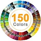 Embroidery Thread, Vibeey Embroidery String Rainbow Color 150 Skeins Per Pack, Cotton Embroidery Threads for Cross Stitch Thr
