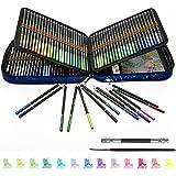 Lápices de Colores Acuarelables Profesionales, juego de 120, Lápices Acuarelables con pincel de agua, Ideal para Adultos y Ni
