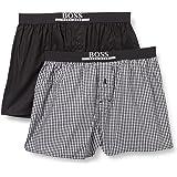 BOSS Mens 2P Boxer Shorts EW Two-Pack of Pyjama Shorts in Lightweight Cotton poplin