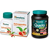 Himalaya Ashwagandha Pure Herbs General Wellness Tablets - 60 Count & Himalaya Quista Pro Advanced Whey Protein Powder…