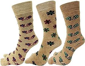 Krystle Women's Designer Woollen Warm Winter Thumb Socks (Pack of 3)