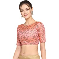 Oomph! Womens Jacquard Boat Neck Blouse (lightfloral)