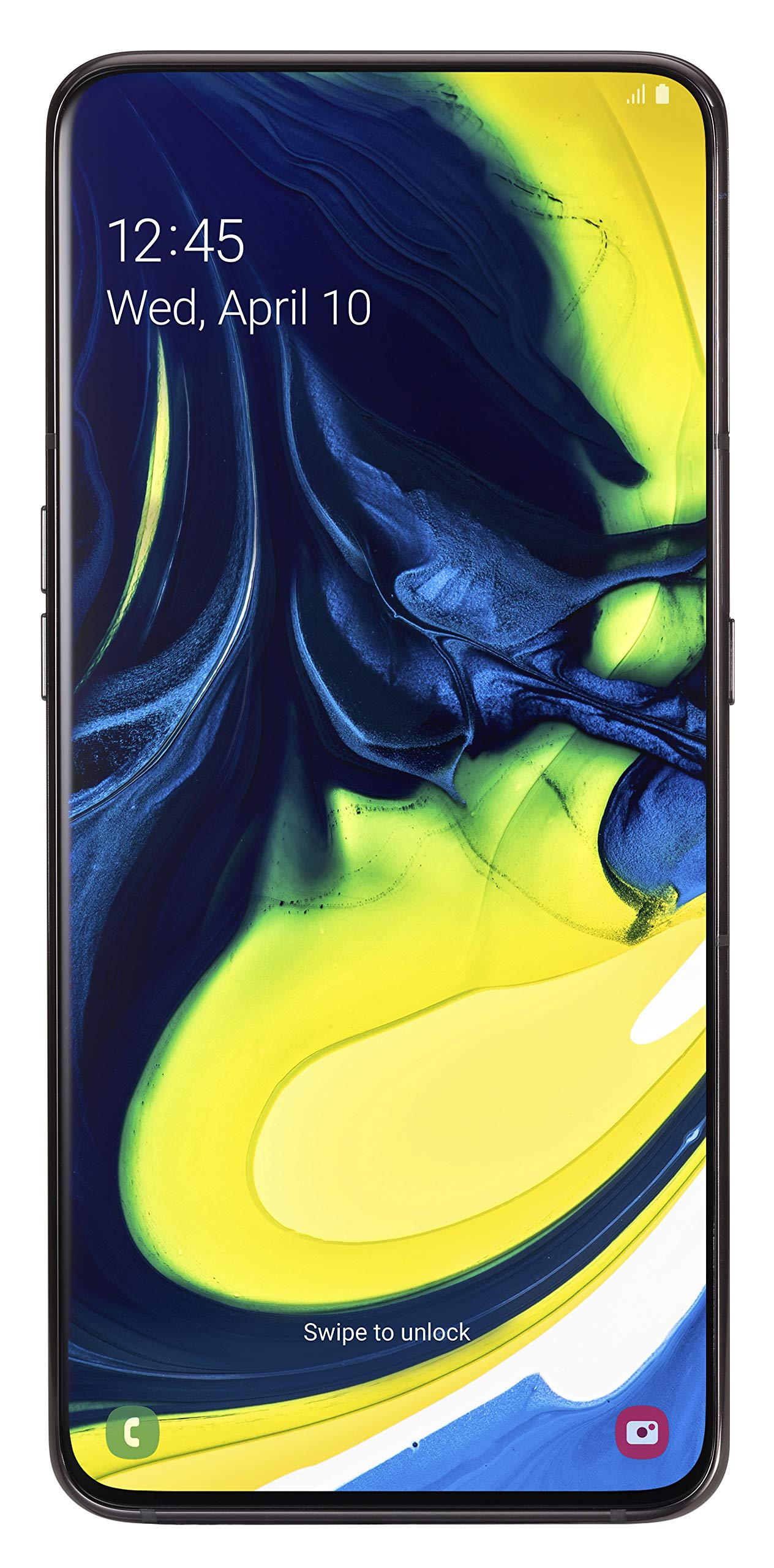 Samsung Galaxy A80 Smartphone (17.0cm (6,7 Zoll) 128GB interner Speicher, 8GB RAM, Dual Sim, Phantom Schwarz) Deutsche Version