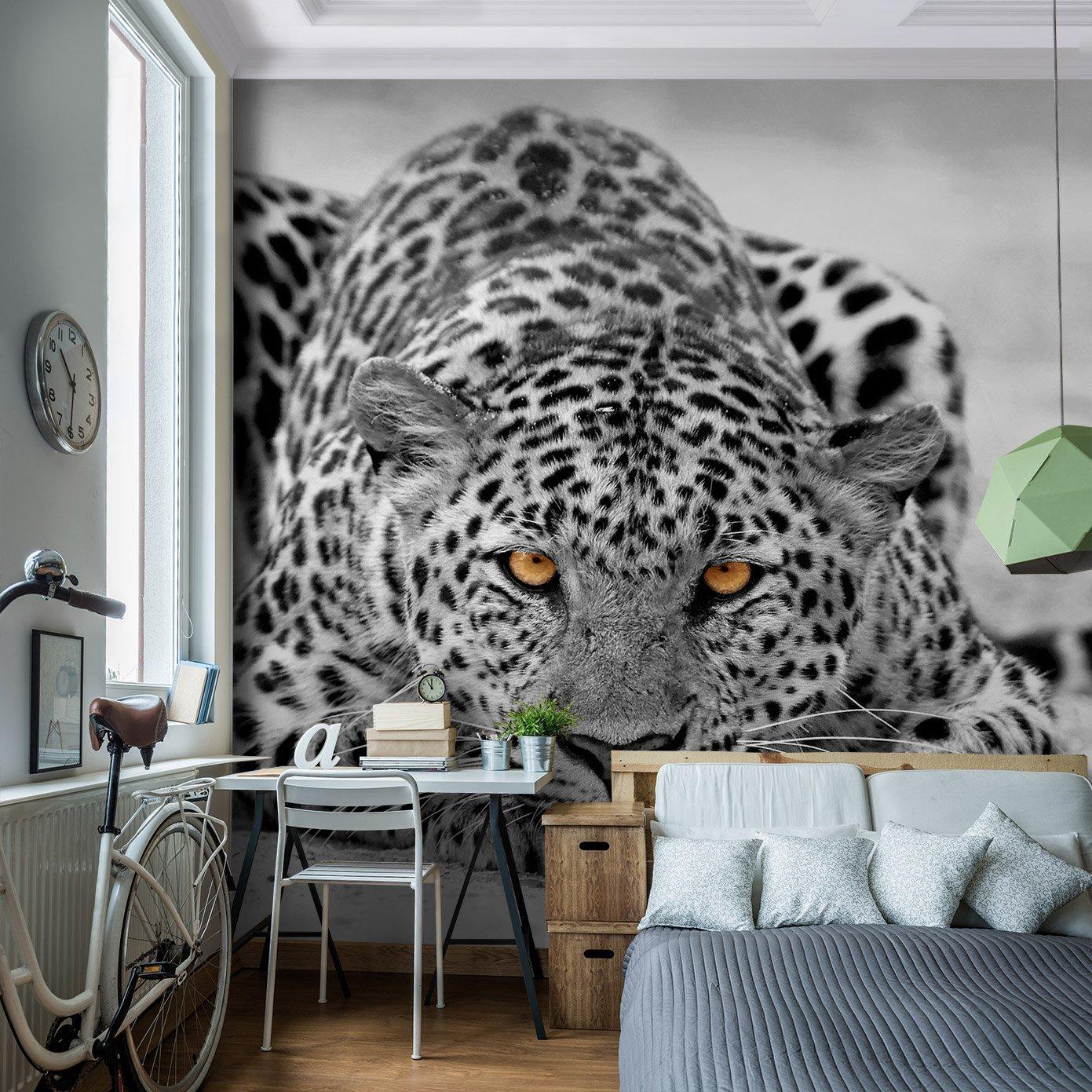 Leoparden Tapete. Great Fototapete Verrckt Leopard Tapete With ...