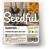 4 x 320g Organic Seeded Rolls ( 4 Rolls Each ), Wellbeing, Lifestyle, Gluten Free, Wheat Free, Vegan, Vegetarian, Seeded…