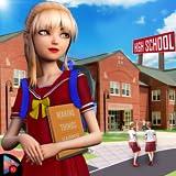 Virtuelles HighSchool Neues Mädchen College Life Adventure