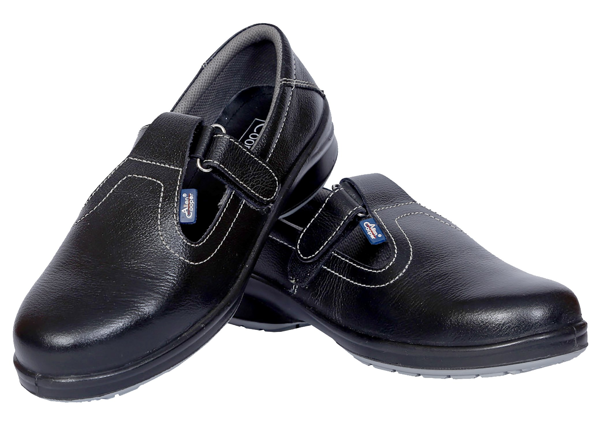 Allen Cooper AC-1197 Women Safety Shoe, ISI Marked for IS 15298 Part-2, Double Density DIP-PU Sole, Size 5, BLACK