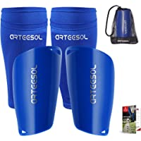 arteesol Shin Pads,Sturdy and Lightweight Pads Design Shape Fit Shin Well Leg Sleeves Type Shin Guards Not Slip and…