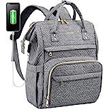 LOVEVOOK Laptop Rucksack Damen wasserdichte Rucksäcke mit 15,6 Zoll laptopfach, Rucksacktasche mit USB-Ladeanschluss Rucksack