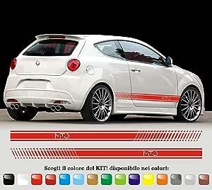 Aufkleber Stickers Selbstklebende Streifen Seitliche Streifen Alfa Romeo Mito Cody11 Auto