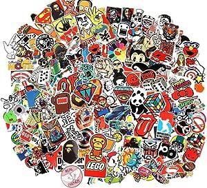 Wayouter Aufkleber Pack 100 Stücks Wasserdicht Vinyl Stickers Graffiti Decals Stickerbomb Für Auto Motorräder Fahrrad Skateboard Snowboard Gepäck Laptop Macbook Computer Küche Haushalt