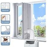 KafooStore Guarnizione Finestra Condizionatore 400CM Universale, Kit Guarnizione per Condizionatore portatile, Tutti Climatiz