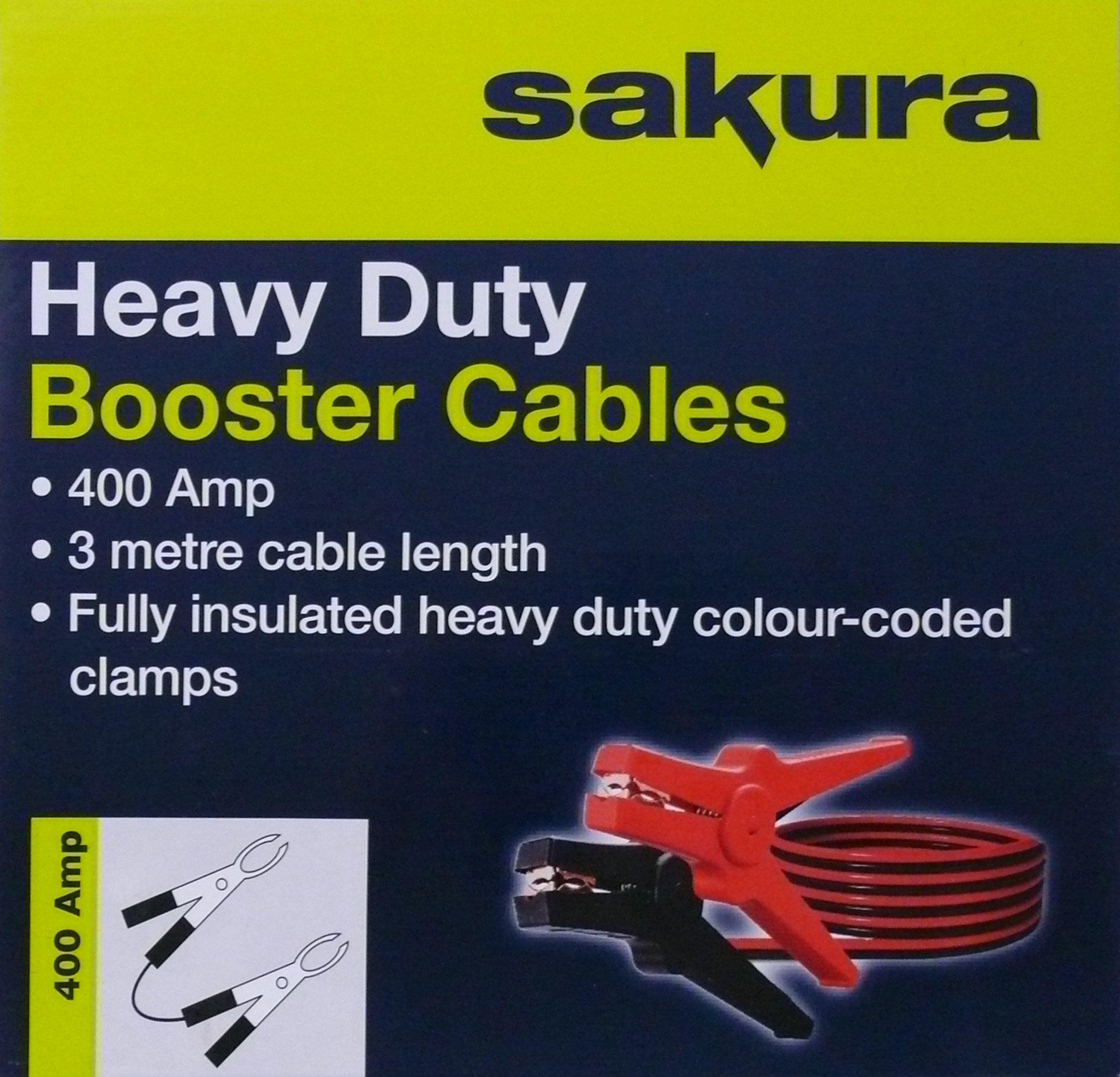 Sakura SS3626 Cable de Arranque, 400 Amp 3 metres