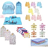 Infantbond 56 in 1 New Born Baby Complete Daily Items Combo(0-6 Months)(Star) (Blue for Baby Boy)