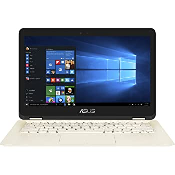 "Asus UX360CA-C4171T ZenBook Flip Notebook, LCD 13,3"" Full HD, Touchscreen, Processore Intel M3-7Y30, RAM 4 GB, SSD 256 GB, Oro"