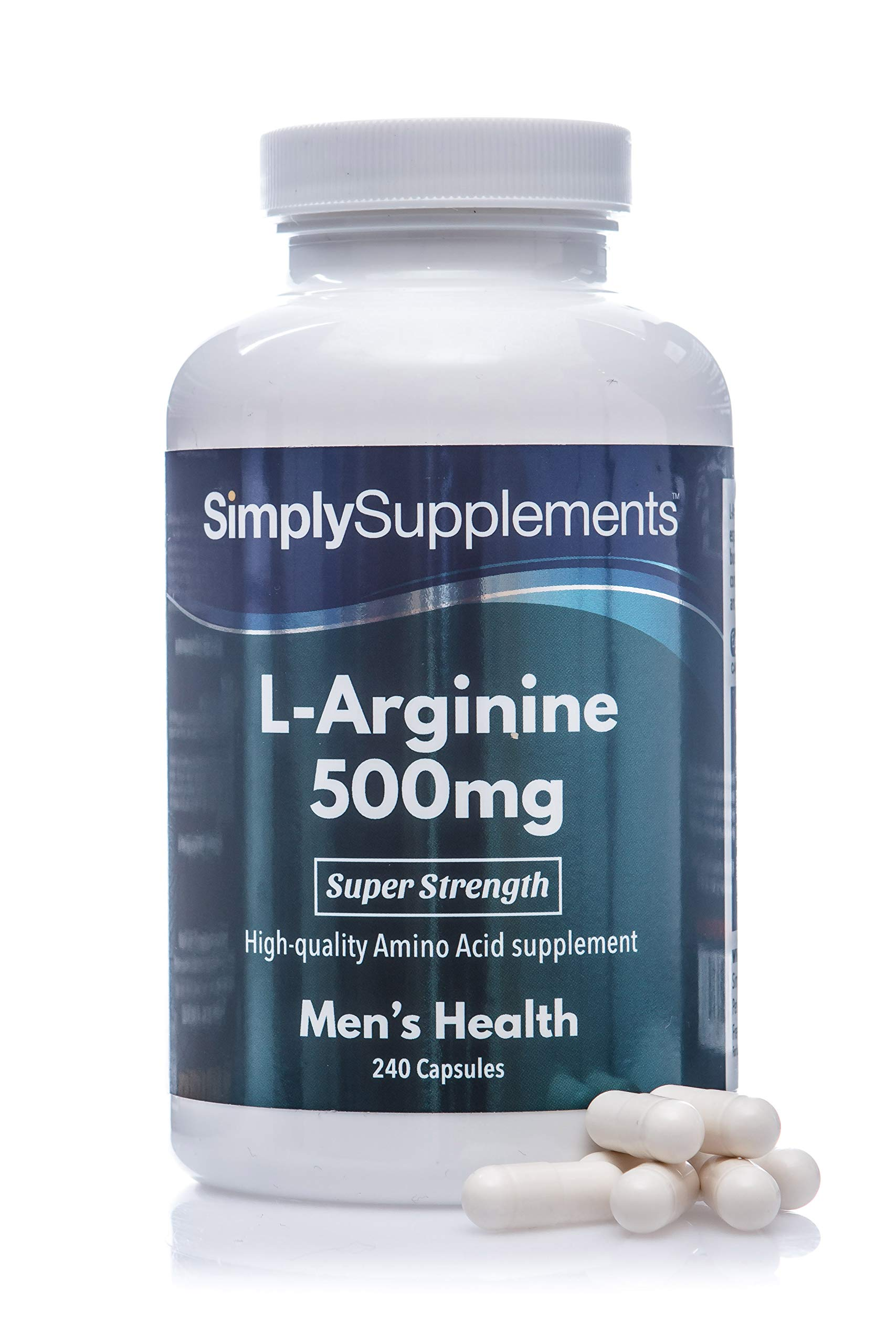 815ludUzbdL - L Arginine 500mg Capsules | High Strength Supplement Includes Iron to Reduce Tiredness & Fatigue | 240 Capsules = 80 Days Supply | Manufactured in The UK