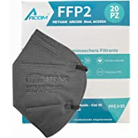 20x - Arcom - MASCHERINE FFP2 NERE - CERTIFICATE CE - 20 pz