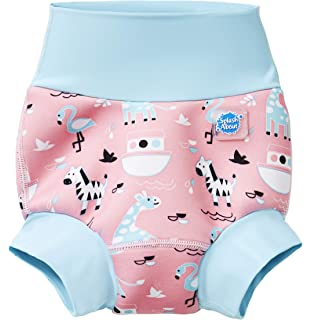 IndigoKids Baby Toddler Girl Neoprene Reusable Swimming Nappy Shorts Fushia Pink
