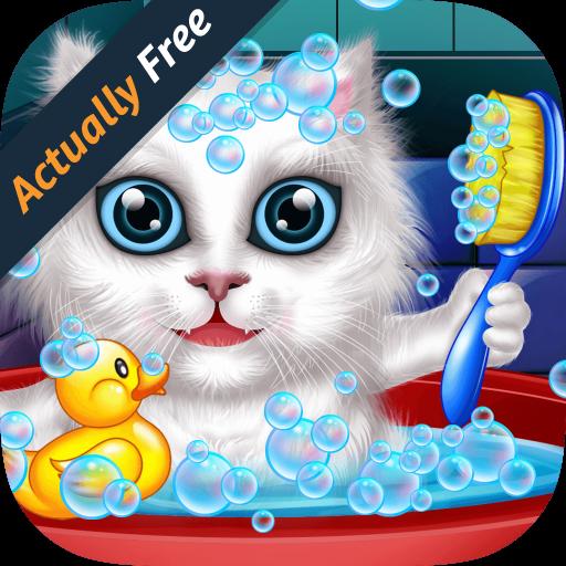 lavar-y-tratar-a-las-mascotas-ayudar-a-los-gatos-y-cachorros-juego-educativo-libre-para-ninos-gratis