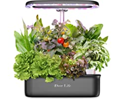 iDeer LIFE Smart Indoor Gardening System, Hydroponics Growing Kit with LED Plant Grow Light, Indoor Herb Garden with 8 Pods f