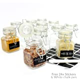 Mini Clip Top Glass Jars (8 x 5 cm) Preserve Jam Spice M&W (x72)
