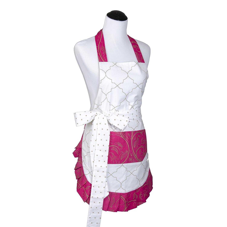 White ruffle apron amazon - Flirty Aprons Women S Original Very Cherry Apron Amazon Co Uk Kitchen Home
