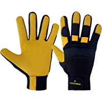 Gardening Gloves Thorn Proof Breathable Heavy Duty Utility Leather Construction Work Gloves for Garden Safety Lawn Men…