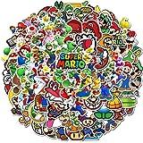 Pegatinas de Super Mario [100 Piezas] Anime a Prueba de Agua para portátil Botella de Agua Coche Taza Computadora Guitarra Mo