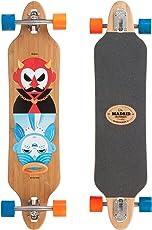 "Madrid Twin-Tip Longboard, Drop-Throug, Tombstone Good&Evil Bamboo 38.38"" (97,47 cm), Komplettboard Freeride Cruiser Board"