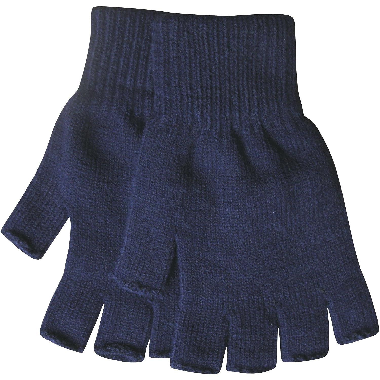 Fingerless gloves for guitarists - Men S Warm Thermal Knit Fingerless Winter Gloves Black Amazon Co Uk Clothing