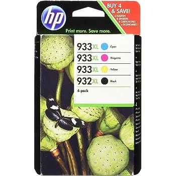 HP 932XL/933XL Multipack Original Druckerpatronen (Cyan/Magenta/Gelb/Schwarz) mit hoher Reichweite für HP Officejet