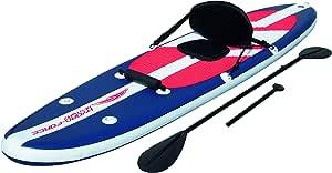 Bestway Long Tail aufblasbares Stand Up Paddle Board (iSUP) und Kajak, Komplett-Set, mit Doppel-Paddel (221 cm), Hochdruck-Pumpe und Zubehör, 335 x 76 x 15 cm, bis 145 kg