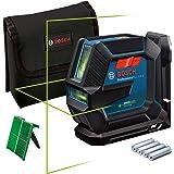 Bosch Professional Livella Laser GLL 2-15 G (laser verde, supporto LB 10, raggio d'azione visibile: fino a 15 m, 4x batterie