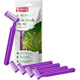 Sirona Disposable Hair Removal for Women with Aloe Boost, 2 Blade Shaving Razor - (Pack of 5, Purple)