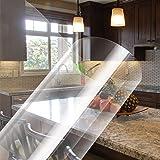 iKINLO Spatbescherming, transparante wandbeschermingsfolie, muursticker, hoge temperatuur, anti-oliesticker, zelfklevende fol